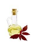 Öl mit Amarant im Dekantiergefäß Stockbild