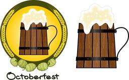 Öl Mug_hop royaltyfri illustrationer