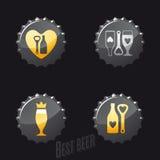 Öl- och barsymboler Royaltyfria Foton