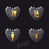 Öl- och barsymboler Royaltyfri Fotografi