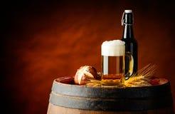Öl och bulle Royaltyfria Foton