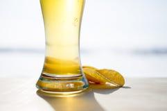 Öl och chiper royaltyfria foton