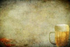 Öl och crawfish Royaltyfri Bild