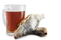 Öl och fisk royaltyfri foto