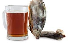 Öl och fisk arkivfoto