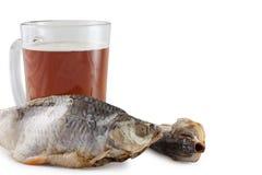 Öl och fisk arkivbild