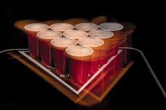Öl Pong Royaltyfri Foto