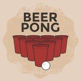 Öl Pong Drinking Game Royaltyfri Fotografi