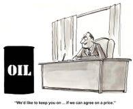 Öl-Preiskalkulation Stockbilder