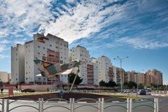 ÖL-SHEVA ISRAEL JANUARI 12, 2011: Monument till israeliska piloter Royaltyfri Fotografi