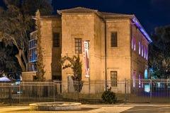 ÖL-SHEVA ISRAEL NOVEMBER 12, 2011: Negev konstmuseum Arkivbild