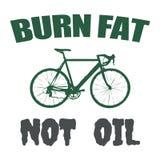 Öl-Textdesign des Brandfettes nicht Stockbild