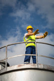 Öl-und Gas-Produktions-Betreiber Stockfotografie
