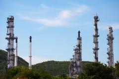 Öl-und Gas-Raffinerie-Anlage Lizenzfreies Stockfoto