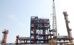Öl-und Gas-Verarbeitungsanlage Stockfotos