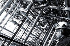 Öl- und Gasarbeitskraft im Profil Stockfotos