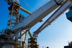 Öl- und Gasplattform Stockfoto