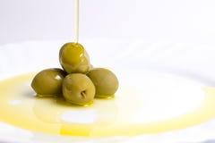 Öl und Olive stockfoto