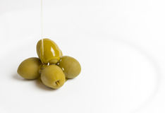 Öl und Olive stockfotografie