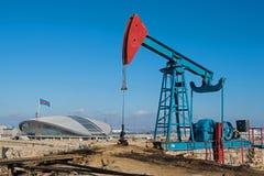 Öl Wells von Baku lizenzfreie stockbilder