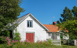 Öland, Sweden. Old vintage house in the countryside of Swedish Baltic sea island Öland. Öland is a popular tourist destination in Sweden during summer Royalty Free Stock Photography