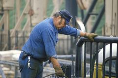 Ölarbeiter in Torrance, CA lizenzfreie stockfotografie