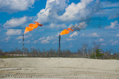 Ölaufflackern Lizenzfreie Stockbilder