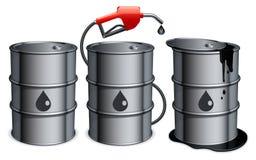 Ölbarrel. stock abbildung