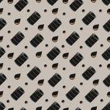 Ölbarrel und nahtloses Muster des Öltropfens Stockfotografie