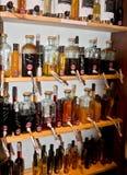 Öle und Essige Mallorquin Stockfotos