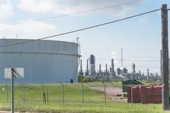Ölen Sie Tanklager in Pasadena, Texas, USA lizenzfreies stockbild