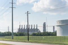 Ölen Sie Tanklager in Pasadena, Texas, USA stockfotos