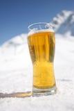 Ölexponeringsglas över Alps Arkivbild