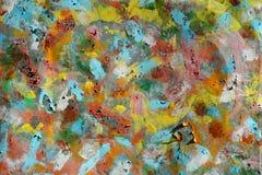 Ölfarbe auf Blechtafel stockfotos