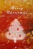 Ölfarbe Weihnachtskarte stockbild