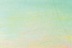 Ölfarbehintergrund, helles Gelbrosa des überseeischen Blaus, Türkis, große Bürste streicht malendes ausführliches strukturiertes  Lizenzfreie Stockbilder