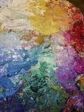 Ölfarbepalette des Künstlers lizenzfreie stockfotos