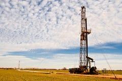Ölfeld zwei, das Maßeinheiten zieht Stockbilder