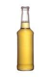 Ölflaska med locket som isoleras på white Arkivfoton