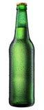 ölflaskan tappar vattenwhite royaltyfri bild