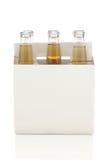ölflaskar tar bort packe sex Royaltyfri Bild