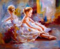 Ölgemälde - Ballett stock abbildung