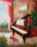 Ölgemälde - Klavier vektor abbildung