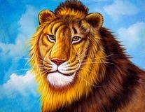 Ölgemälde - Löwe vektor abbildung
