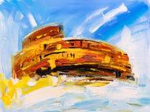 Ölgemälde - Roman Colosseum, Italien lizenzfreie abbildung
