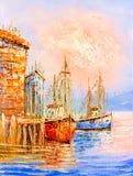 Ölgemälde - Venedig, Italien stock abbildung