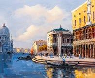Ölgemälde - Venedig, Italien lizenzfreie abbildung