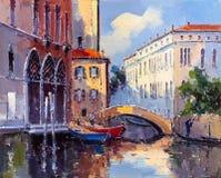 Ölgemälde - Venedig, Italien vektor abbildung