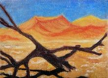Ölgemälde, Wüste. Stockbild