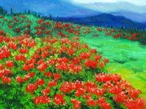 Ölgemälde - wilde Blume Stockbild